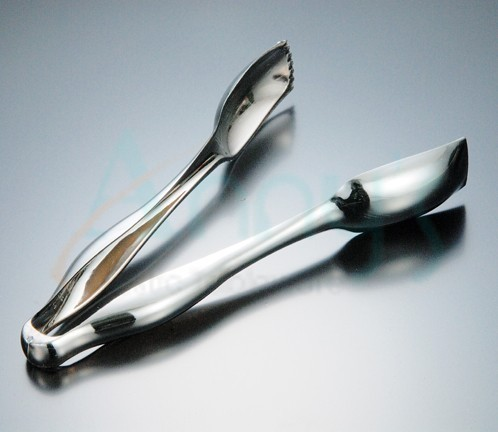 disposable silver plastic serving tongs