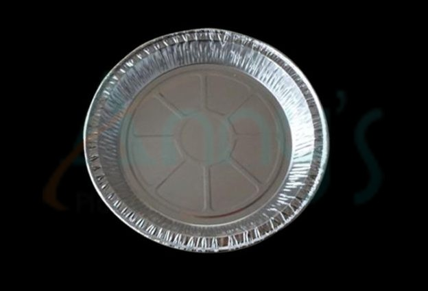 "9"" disposable tin foil pie tray, 9"" foil pie pan"