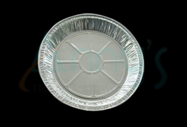 "10"" disposable aluminum foil pie dish, foil pie pan"